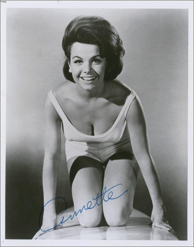 Annette Funicello surfboard autographed af010