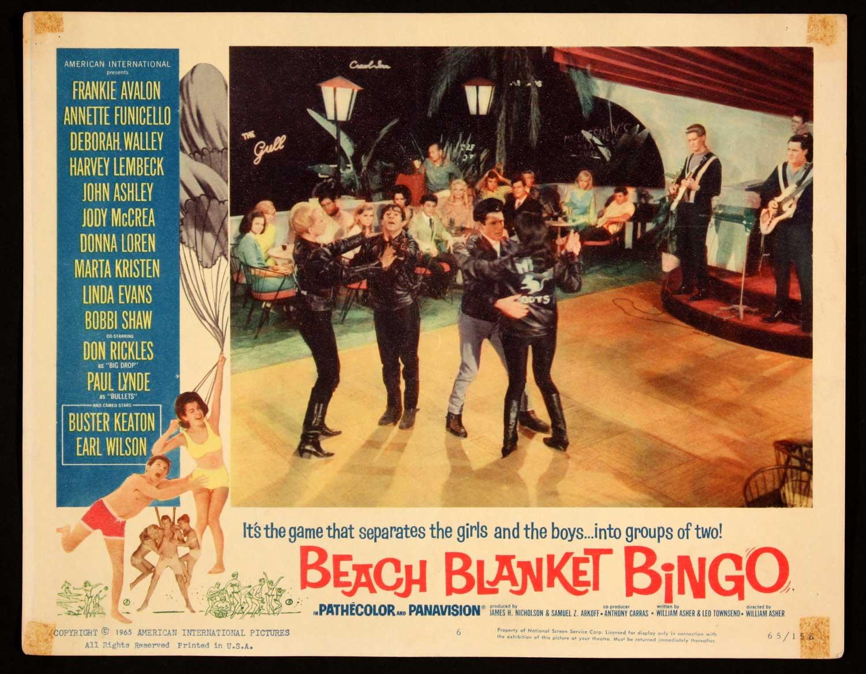 Plaža odeja Bingo iz leta 1965 Filmi na zabavi na plaži-8475