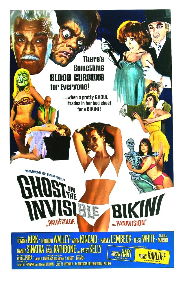 Ghost in the Invisible Bikini 1966 poster XL