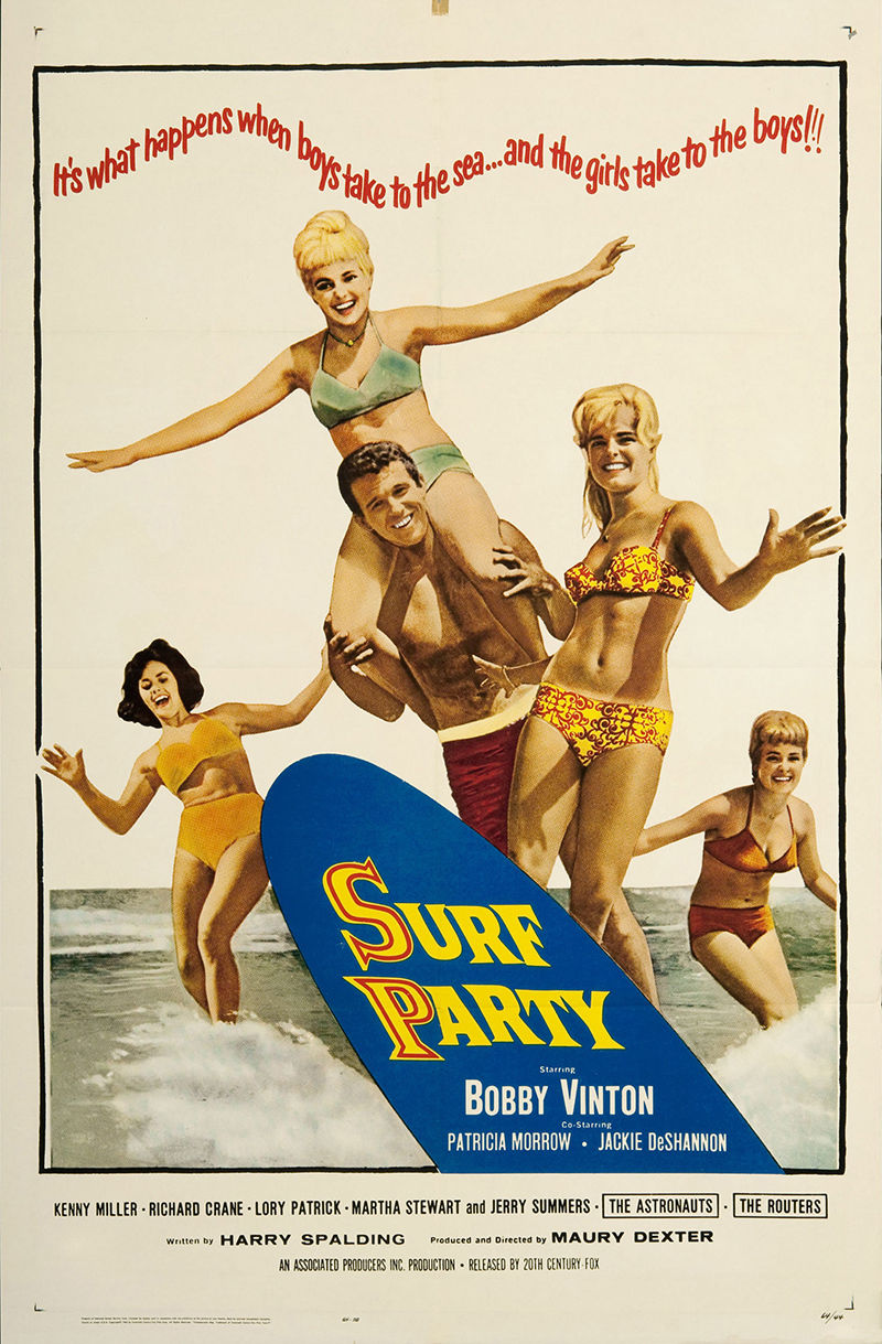 Surf Party 1964 Original Movie Poster Comedy Musical