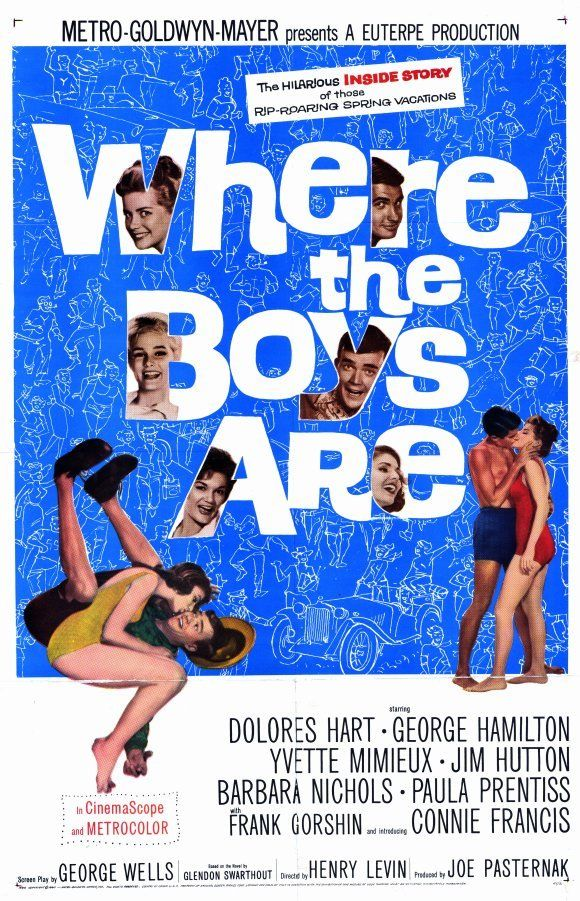 WHERE THE BOYS ARE Movie POSTER 11x17 George Hamilton Jim Hutton Yvette Mimieux
