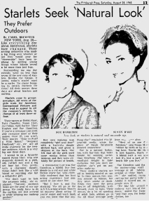 1965-08-28 Starlets Seek Natural Look