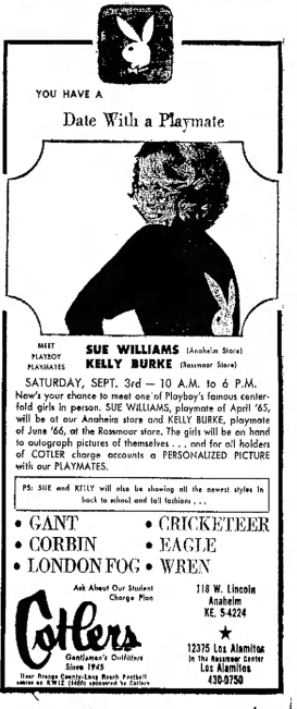 1966 Sue Williams Playmate Independent-Fri-Sep-2-1966-resized