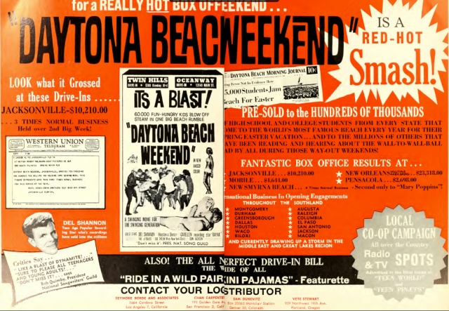 Daytona Beach Weekend trade advert