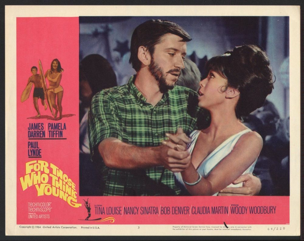 FOR THOSE WHO THINK YOUNG - 11x14 ORIGINAL LOBBY CARD - 1964 - NANCY SINATRA