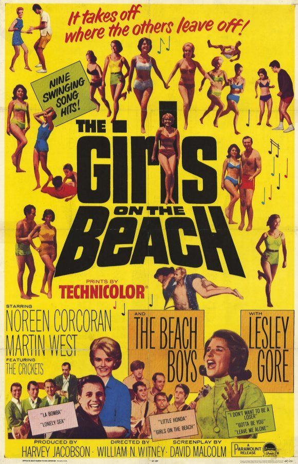 GIRLS ON THE BEACH Movie POSTER 11x17 Noreen Corcoran Martin West Linda