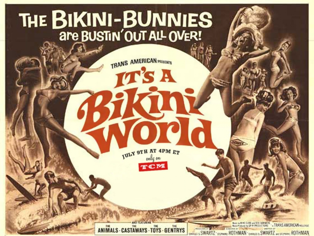 It's A Bikini World 1967 LC poster