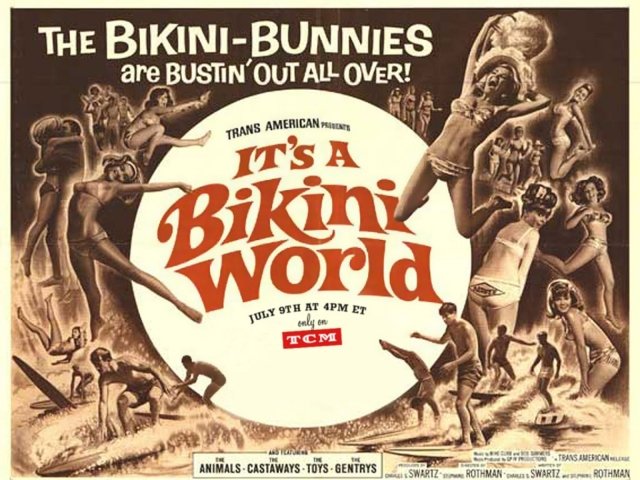 It's A Bikini World 1967 LC poster