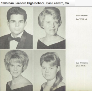 Sue Williams San Leandro High School Senior 1963