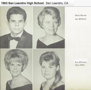 Sue Williams San Leandro High School Senior 1963