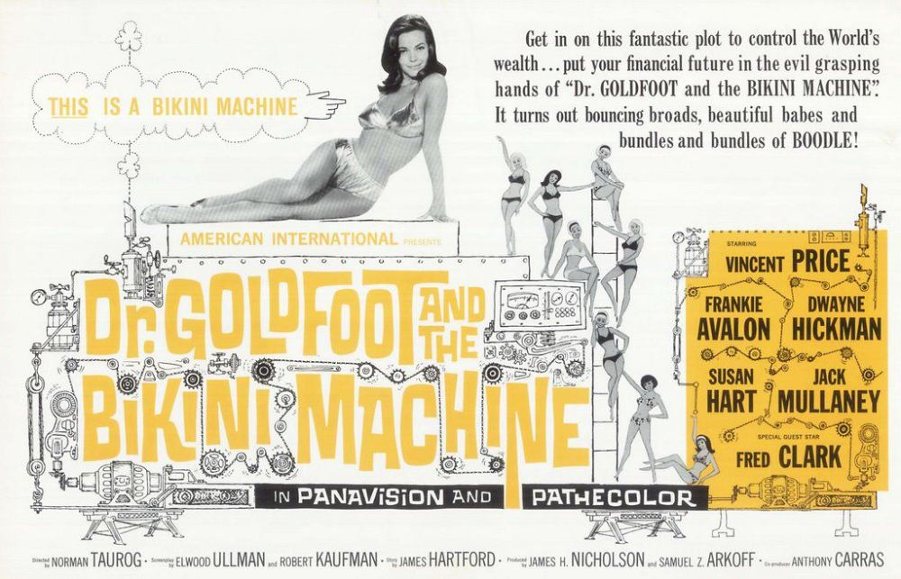 Dr Goldfoot & the Bikini Machine 1965 poster landscape mono