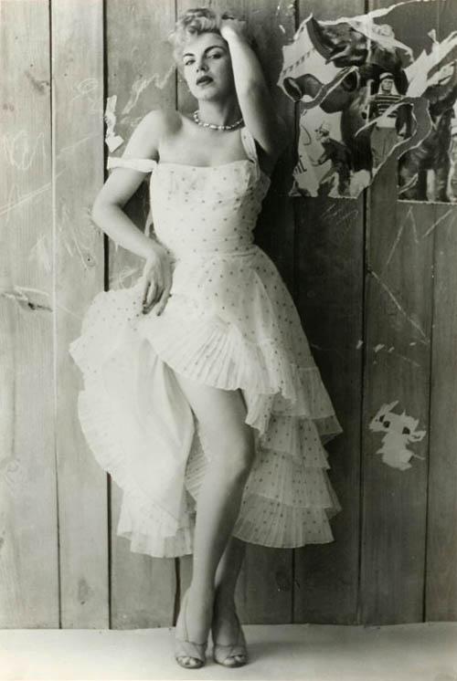 1928 Barbara Nichols (hollyhocks)
