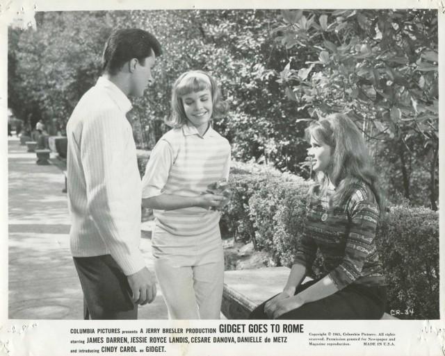 Gidget Goes To Rome '63 DANIELLE DE METZ CINDY CAROL BLONDE JAMES DARREN