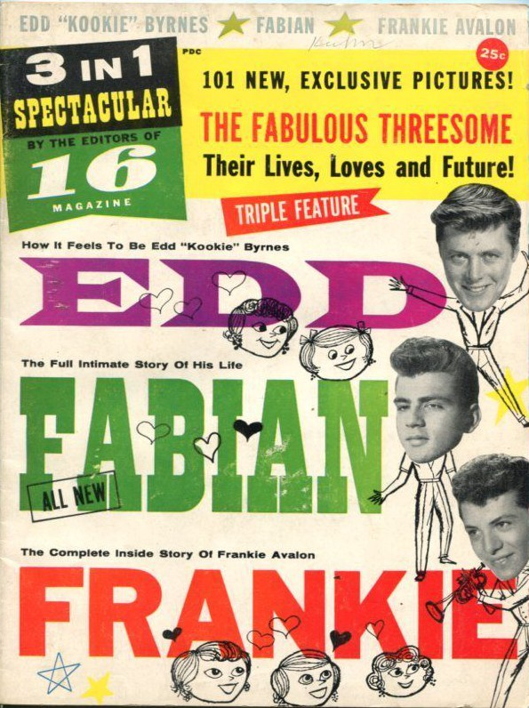 EDD, FABIAN and FRANKIE #1-1959-TOP TEEN IDOLS-SOUTHERN STATES-vg_fn