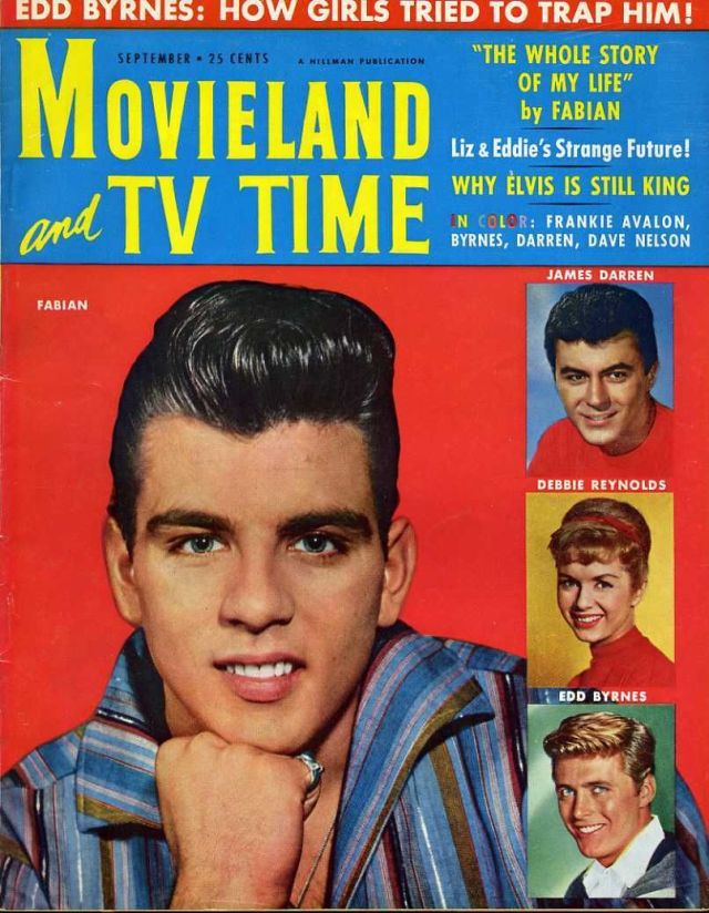 Fabian Peter Brown Edd Byrnes James Darren Frankie Avalon Movieland Sept 1959