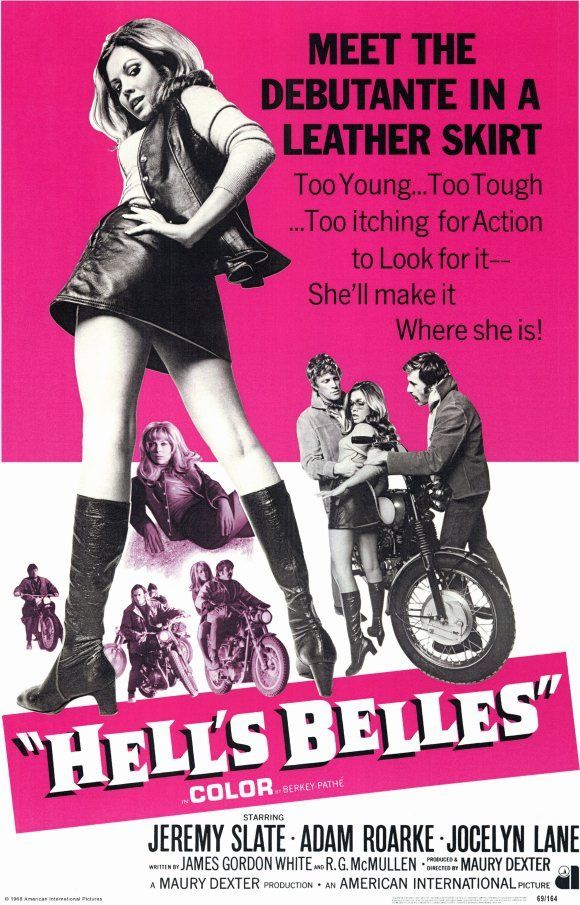 HELL'S BELLES Movie POSTER 11x17 Jeremy Slate Adam Roarke Jocelyn Lane Angelique