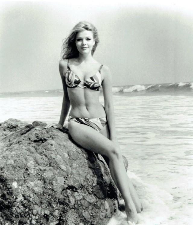 Karen Jensen on the rocks