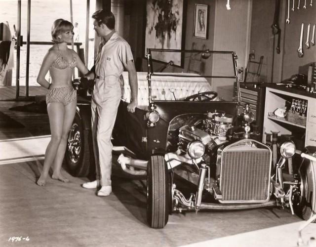 Karen Jensen Swimsuit Robert Pine Racecar Hot Rod OUT OF SIGHT 1966 8x10