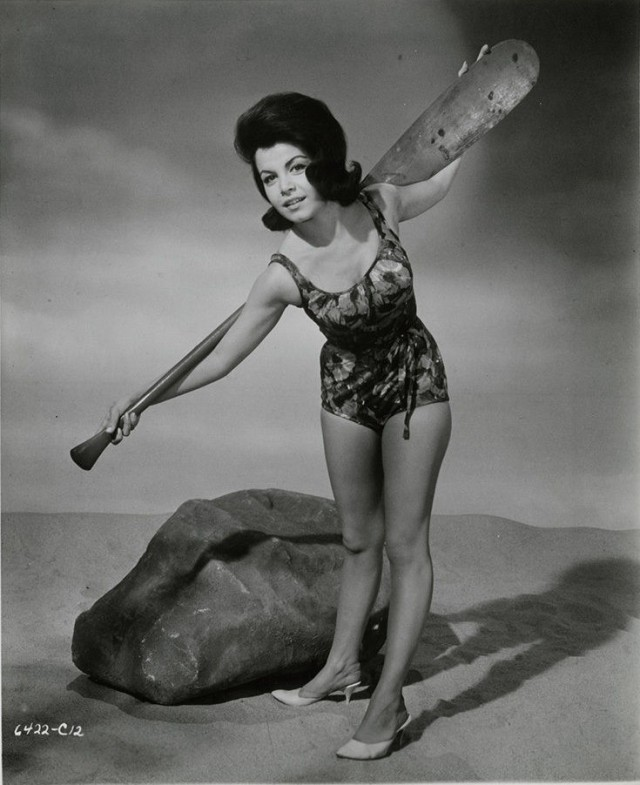 Muscle Beach Party Babe Annette Funicello Vintage Flirty Pin-Up Photograph 1964