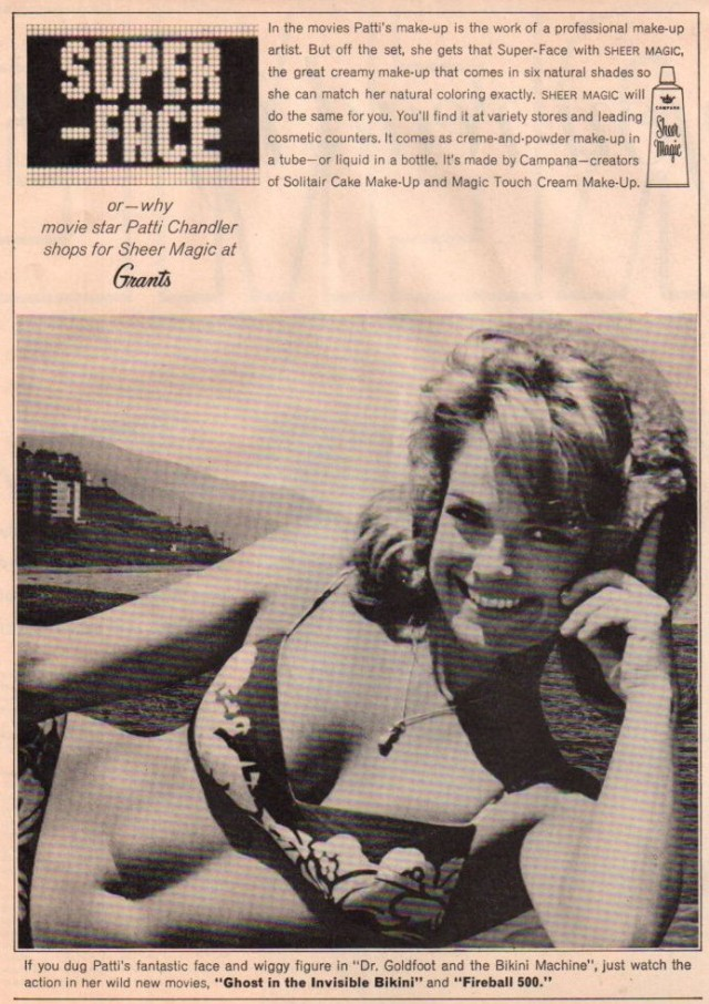 Patti Chandler Beach Party Clipping Magazine Photo orig 1pg 8x10 P1765