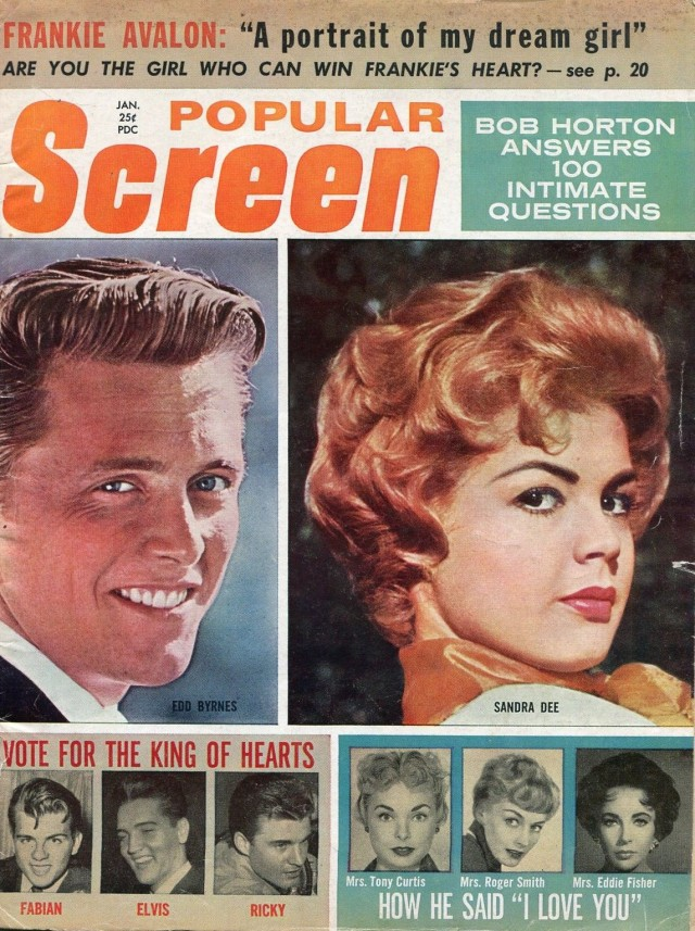 Popular-Screen-1-1960-Elvis-Fabian-Ricky-Nelson-Edd-Byrnes-Sandra-Dee-VG  Have one to sell? Sell now Details about  Popular Screen 1_1960-Elvis-Fabian-Ricky Nelson-Edd Byrnes-Sandra Dee-VG