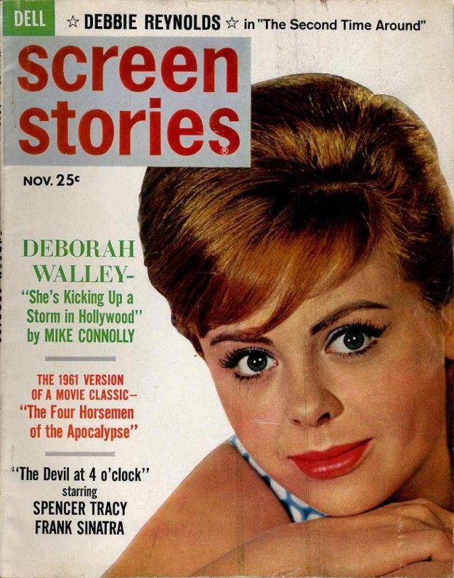 Screen Storie Nov 1961 Deborah Walley Vivien leigh Robert Taylor Edd Byrnes