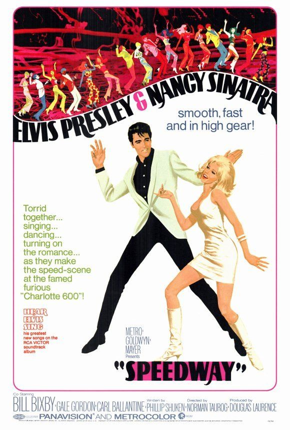 SPEEDWAY Movie POSTER 27x40 Elvis Presley Nancy Sinatra Bill Bixby Gale Gordon
