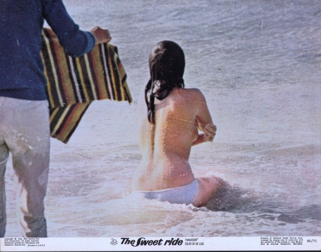 Sweet Ride Lobby Card-1968-Jacqueline Bisset on a beach