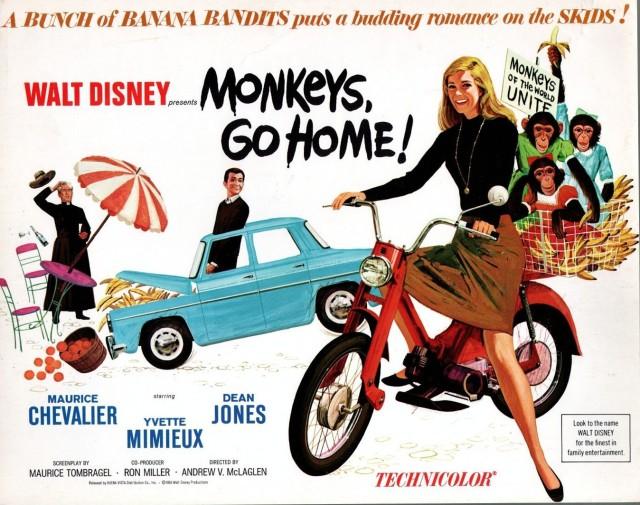 Yvette Mimieux MONKEY'S GO HOME-1966-LOBBY CARD-FN-COMEDY-YVETTE MIMIEUX-DEAN JONES-CHEV FN