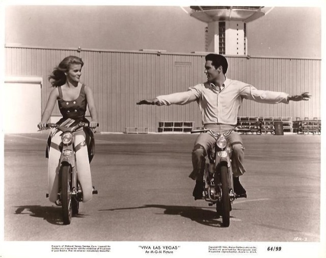 Ann Margret Elvis Presley On Scooters VIVA LAS VEGAS 1964