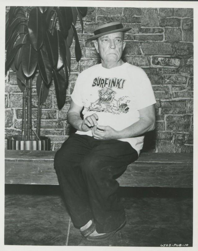 "BUSTER KEATON WEARING AN ED ""BIG DADDY"" ROTH SHIRT - 1965 BEACH BLANKET BINGO"