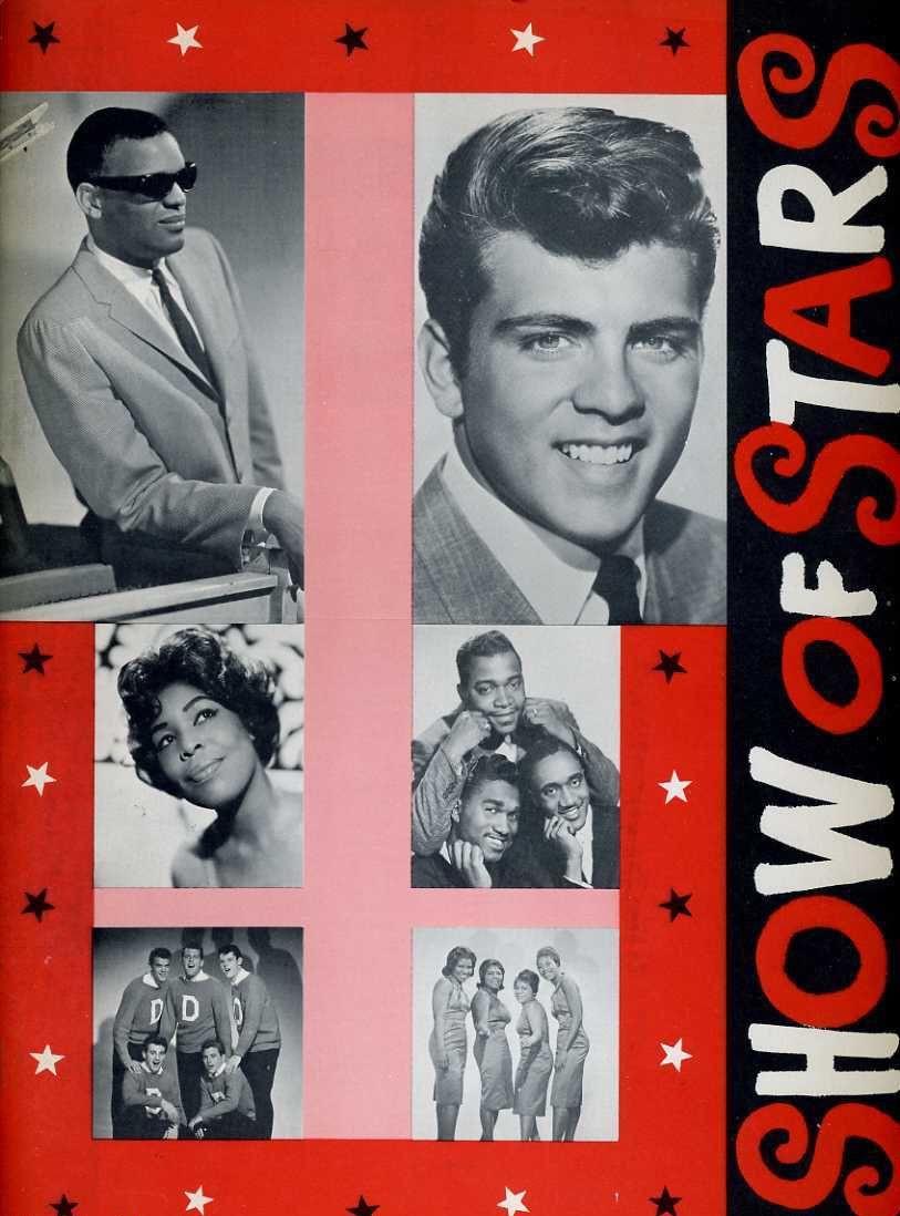 Fabian Ray Charles Original 1959 Show Of Stars Program Book Fabian Shep And Limelights