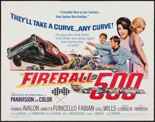FIREBALL 500 halfsheet movie poster 22x28 FABIAN ANNETTE FUNICELLO FRANKI AVALON
