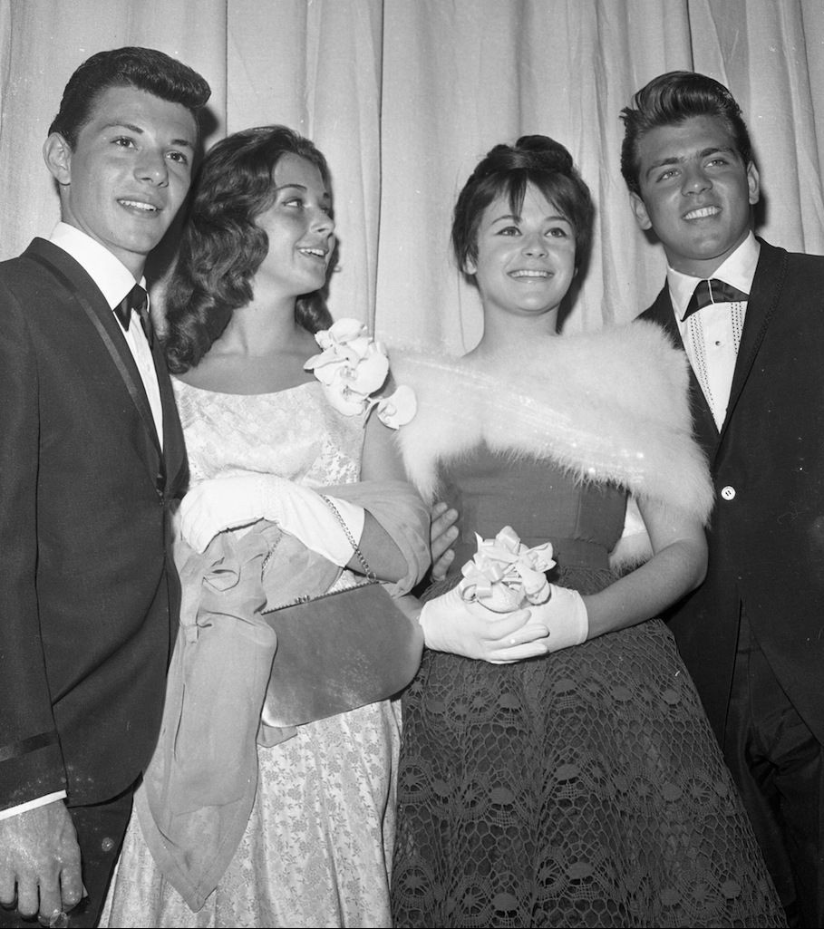 Frankie Avalon Pics throughout frankie and fabian and dates at the 1959 academy awards | beach