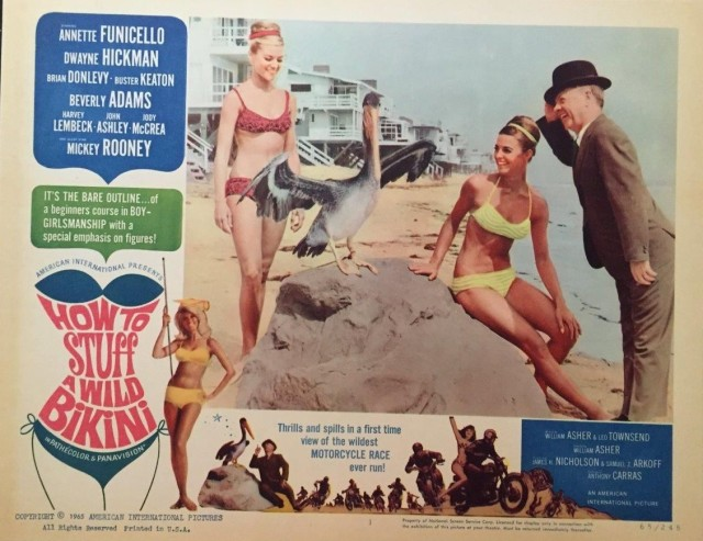HOW TO STUFF A WILD BIKINI * ORIGINAL LOBBY CARD SET OF 7 * ANNETTE FUNICELLO