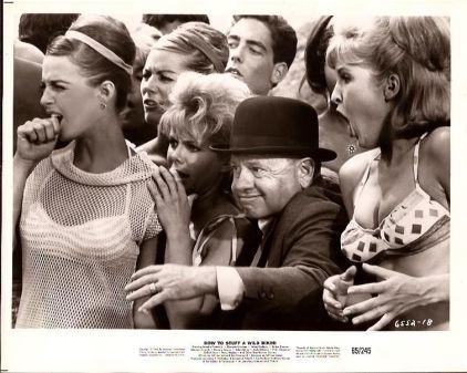 Mickey Rooney and beach girls