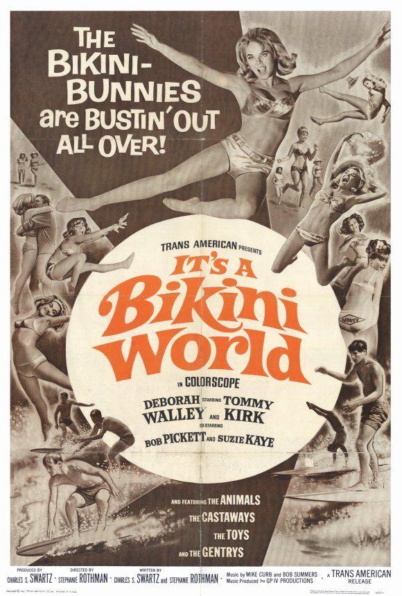 IT'S A BIKINI WORLD Movie POSTER 27x40 Deborah Walley Tommy Kirk Bobby Pickett