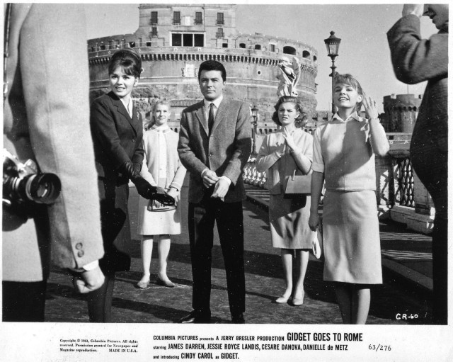James Darren Cindy Carol Gidget Goes To Rome Original 8x10 Photo J0004