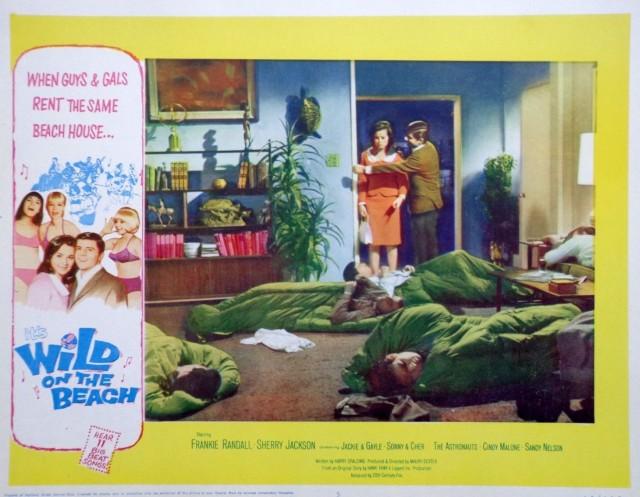 wild on the beach movie poster lobby card vtg 1965 surf culture teenage1