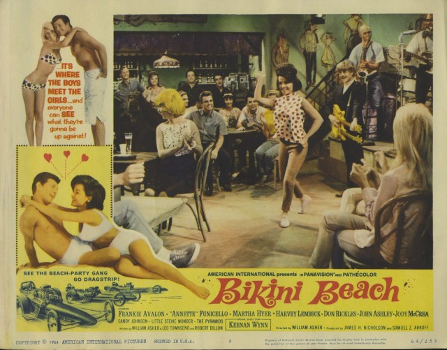 BIKINI BEACH Movie Lobby Card - Annette Funicello, Frankie Avalon s-l1600