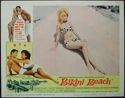 Bikini Beach Original 1964 Lobby Card #2 Annette Funicello, Frankie Avalon