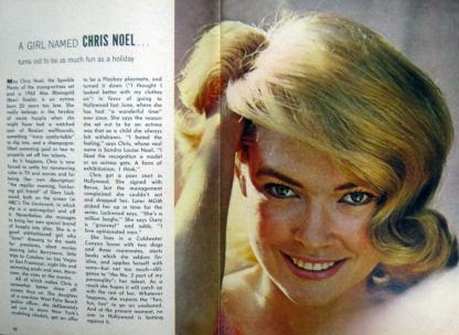 Chris Noel TV Guide Dec 21, 1963