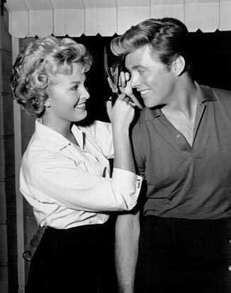 Marianne Gaba and Edd Byrnes in 77 Sunset Strip