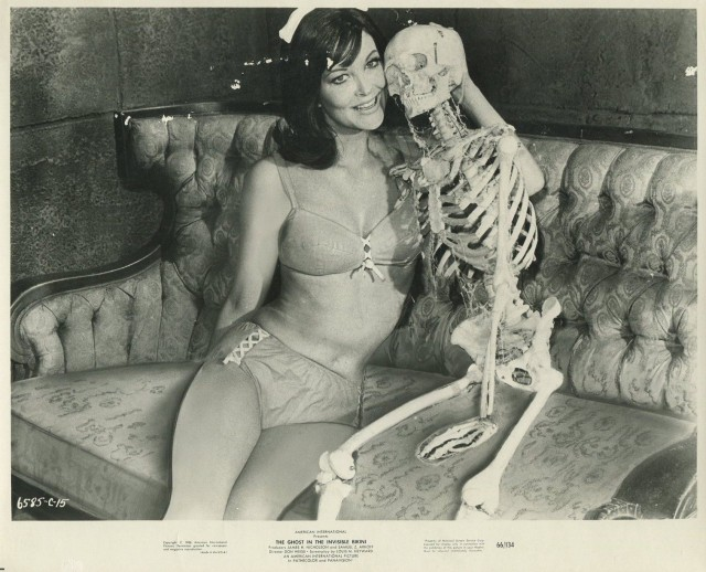 PATTI CHANDLER in The Ghost In The Invisible Bikini '66 SKELETON SEXY