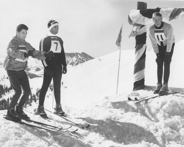 SKI PARTY original 1965 SNOW SKIING movie photo FRANKIE AVALON:ARON KINCAID