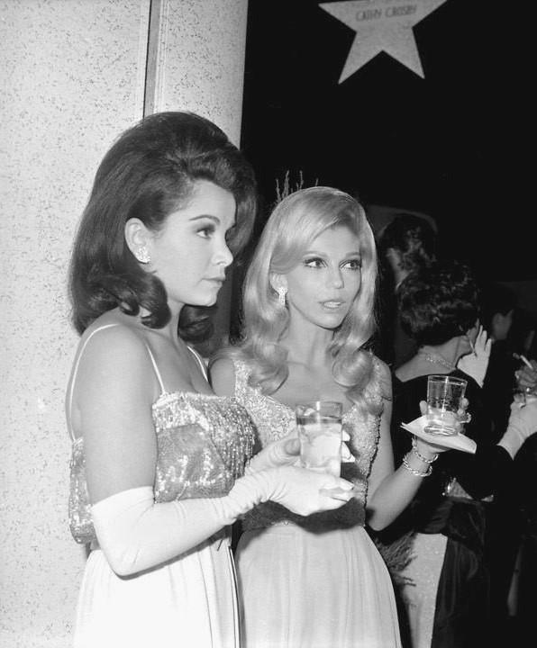 Annette Funicello and Nancy Sinatra