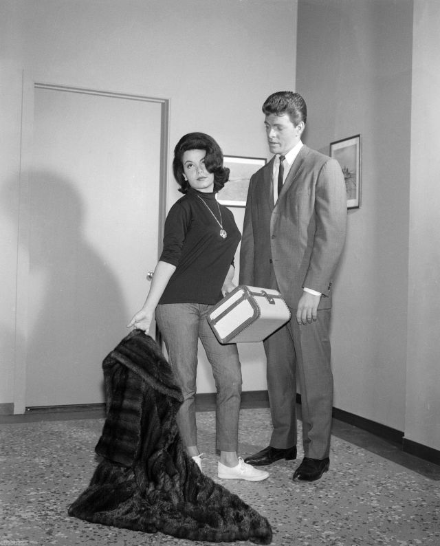 Annette Funicello BURKE'S LAW - TV SHOW PHOTO #1 - WITH Annette Funicello