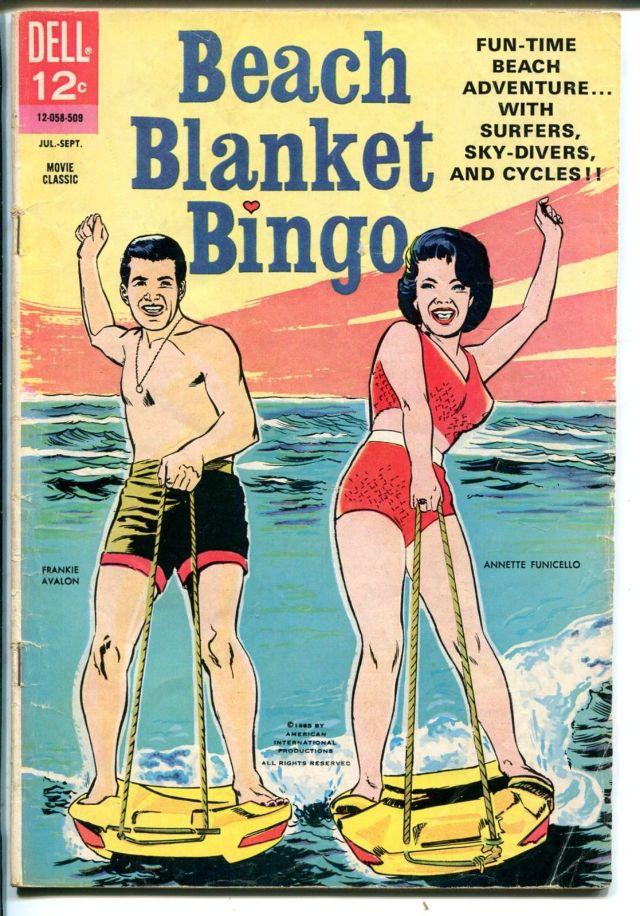 Beach Blanket Bingo-Movie Classic- #12-058-209-1965-Frankie & Annette-VG