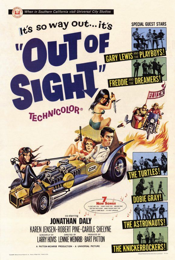 OUT OF SIGHT Movie POSTER 27x40 Jonathan Daly Karen Jensen Robert Pine Carole