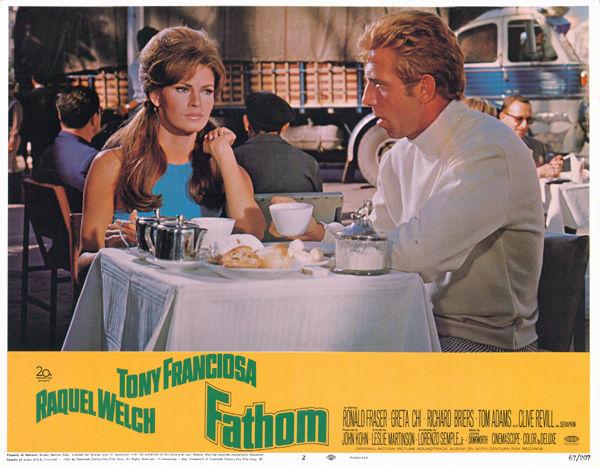 Raquel Welch with Tony Franciosa Fathom original 1967 11x14 lobby card